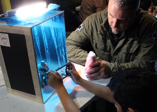TSTC AdamMcGrath 2 72dpi - TSTC graphic designer, Star Wars collector teaches the power of art