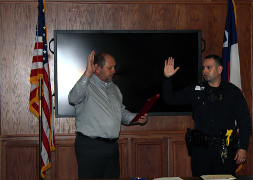 PD Swear In Villarreal 6 72dpi - To serve and protect: TSTC swears in new police officer
