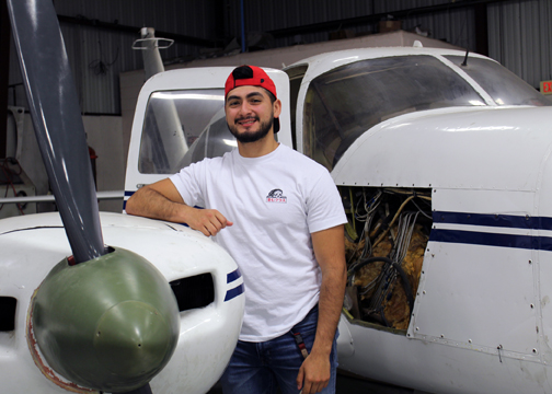 TSTC Aviation IsaiahArizmendi 72dpi - Up, Up and Away: TSTC alum finds career as flight mechanic