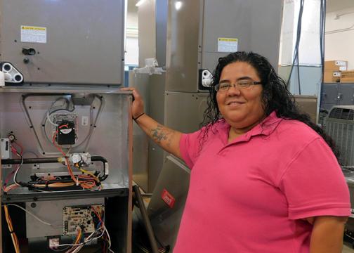 TSTC HVAC CamilleMartinez 72dpi - HVAC student finds her new career at TSTC