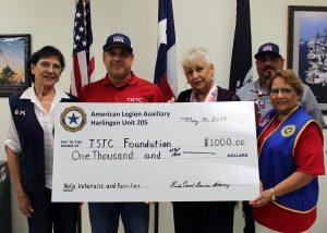 TSTC AmericanLegion Donation 300x214 - TSTC Veterans Center receives donation from American Legion