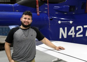 TSTCAirframeCarlosRodriguez 300x214 - TSTC Aircraft Airframe program takes student across the world