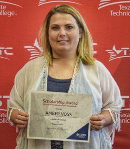 Waco BCT Amber Voss scholarship June 19 2019 edited 1 262x300 - Three TSTC Building Construction Technology Scholarships Awarded