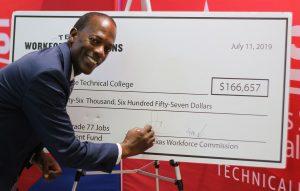 Marshall TWC photo July 11 2019 300x191 - TSTC, TWC, STEMCO Celebrate Skills Development Fund Grant