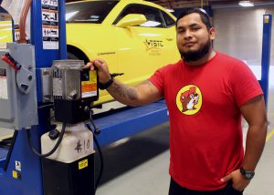 TSTCAutomotiveTech HugoVillanueva 300x214 - TSTC automotive student gets to practice his skills for AEP