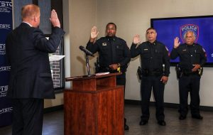 Waco officers promotion Aug. 13 2019 edited 2 300x190 - TSTC Honors Campus Police Officers at Ceremony