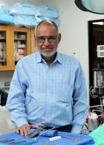TSTC SurgTechRobertSanchez Retires 214x300 - Longtime TSTC Surgical Technology instructor retires, honored for dedication