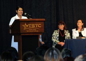 TSTC VNValedictorian SabrinaGarza 300x214 - TSTC Vocational Nursing graduates welcomed into profession