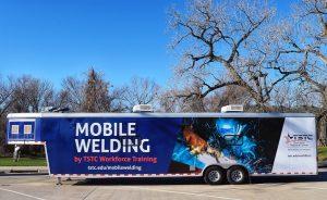 24 Jan. 2020 Waco mobile welding unit edited 2 300x184 - TSTC's Workforce Training Office Offers New Mobile Welding Training Lab