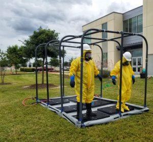 Waco FBC photo two 300x278 - TSTC Environmental Technology Program Gets New Decontamination Trailers