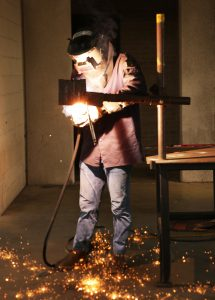 welder with sparks resized 215x300 - TSTC Welding Technology Program in Marshall Ready to Welcome Students This Fall