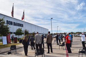 North Texas Bombardier event Nov. 4 2020 300x201 - TSTC, Bombardier Celebrate Federal Apprenticeship Program Registration