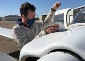 15 Jan. 2021 Waco APTT Dylan Durst pandemic flying 300x216 - TSTC Aircraft Pilot Training Technology program maintains health, safety during pandemic