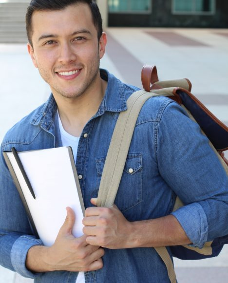 Hispanic male with backpack | Hire TSTC Grads