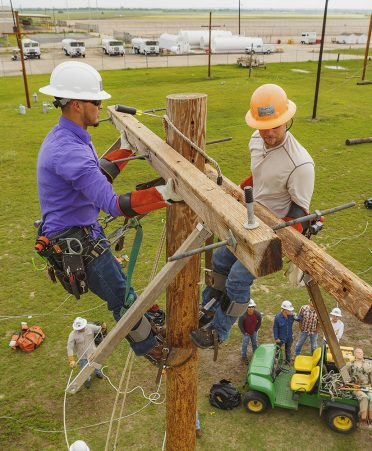 electrical lineworker 372x451 - The sky's the limit for TSTC electrical lineworker grads in Valley