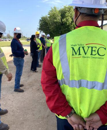ELW MVEC visit 372x451 - Knowledge is power as Magic Valley Electric Cooperative tours TSTC lineworker program