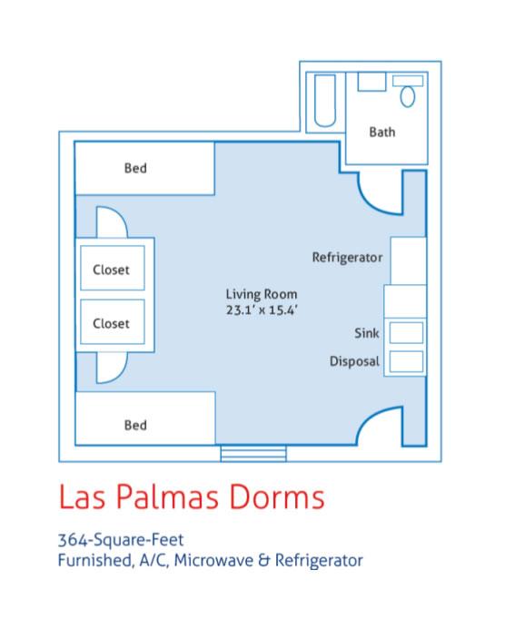 Las Palmas Dorms - Campus Housing