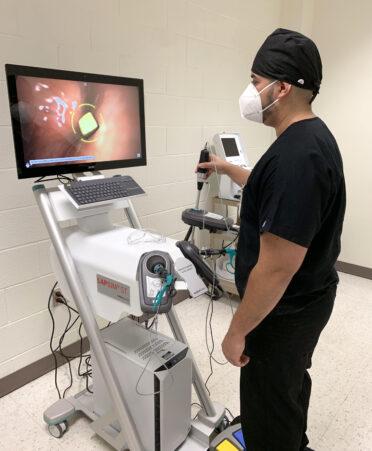 LapSim 1 372x451 - TSTC Surgical Technology student applies gaming experience to laparoscopic simulator
